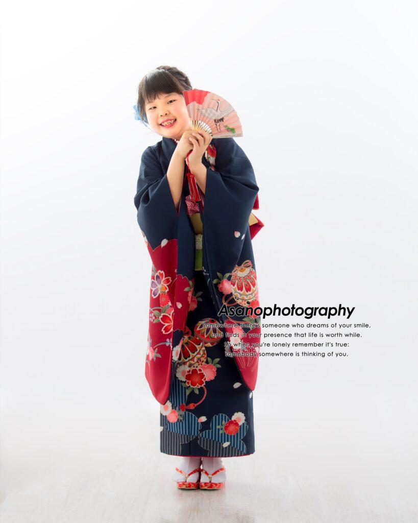 七五三 7歳女の子お気に入りの空手道着で。こんな七五三もアリ!