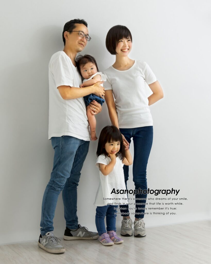 家族写真はリンクコーデで