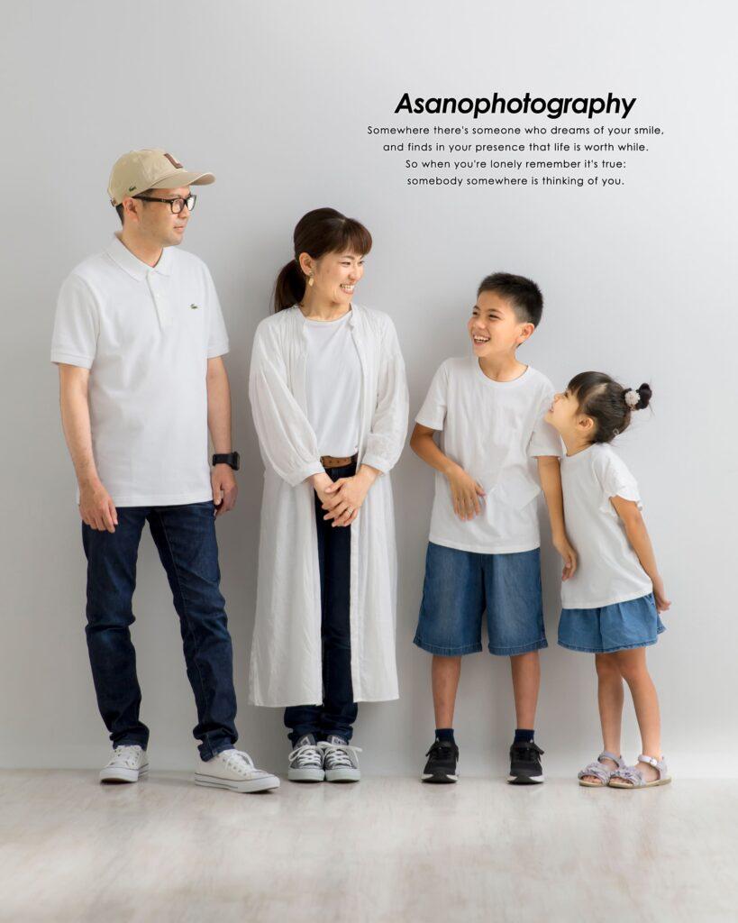 結婚10周年の記念。お子様もご一緒の家族写真で新たな思い出の1ページを。