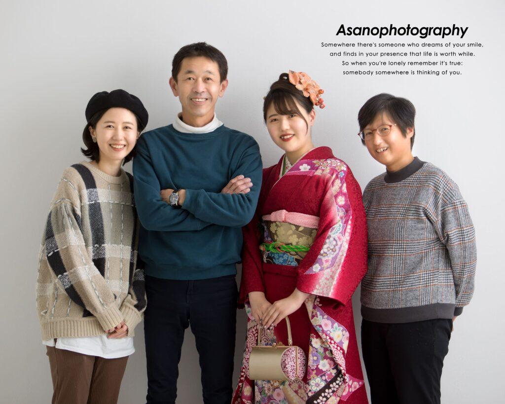 成人式当日は家族写真の撮影に ぴったりな日